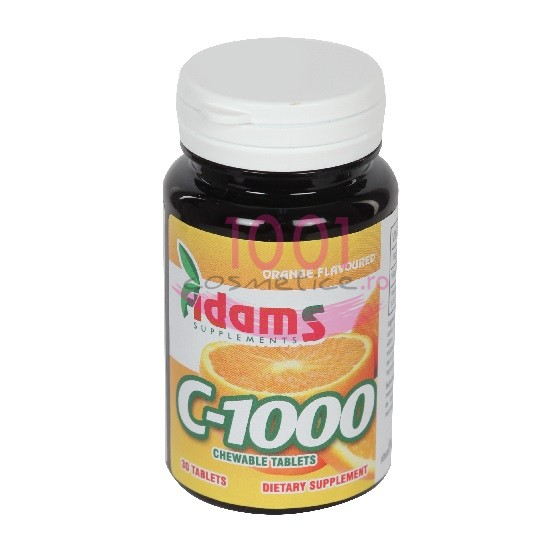 ADAMS C-1000 VITAMINA C TABLETE MASTICABILE CU AROMA DE PORTOCALE 30 TABLETE