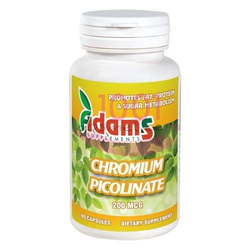 ADAMS CHROMIUM PICOLINATE 200 MCG 90 CAPSULE