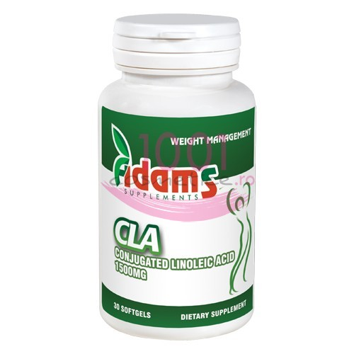 ADAMS CLA 1500 MG LINOLEIC ACID CUTIE 30 TABLETE GUMATE