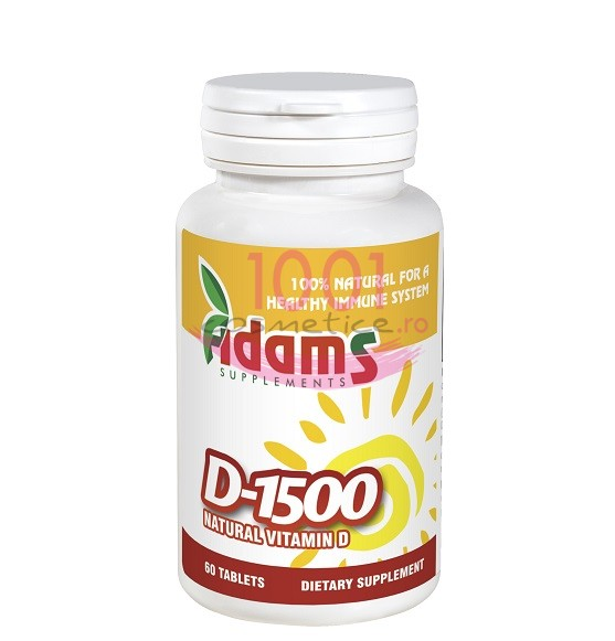 ADAMS D 1500 VITAMINA D NATURALA 60 TABLETE