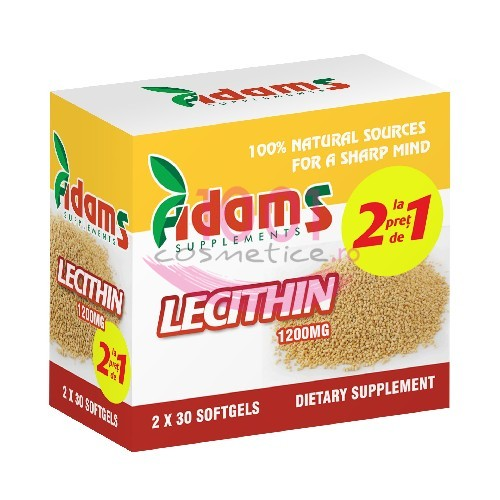 ADAMS SUPPLEMENTS LECITINA PACHET 1+1 GRATIS