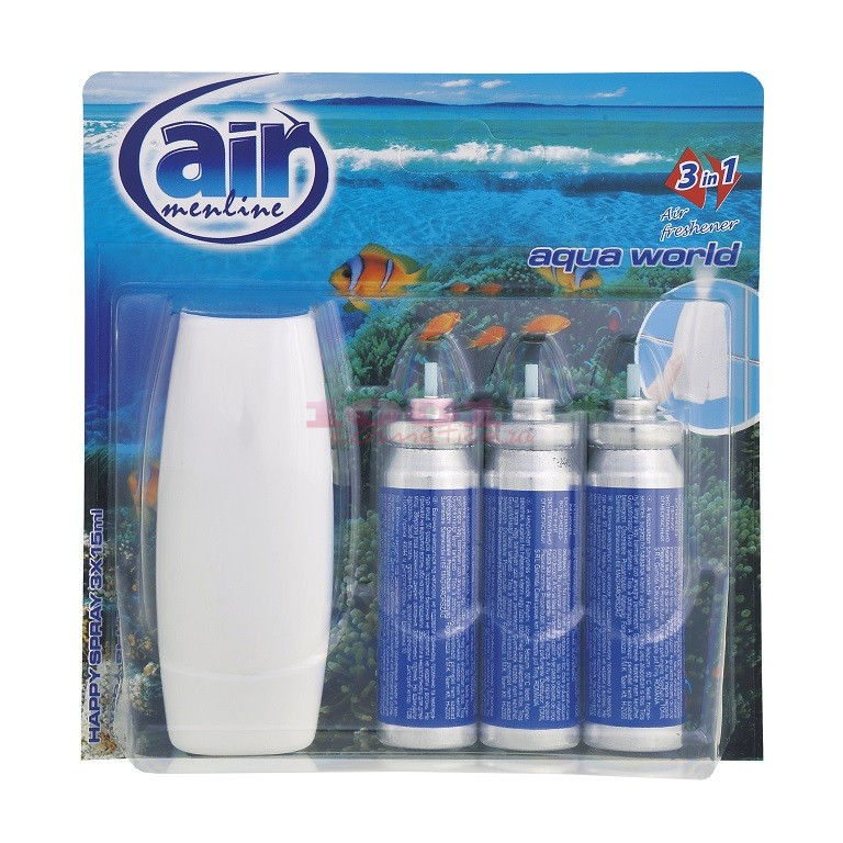 AIR MENLINE 3IN1 SPRAY APARAT + 3 BUCATI REZERVE AQUA WORLD SET