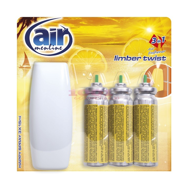 AIR MENLINE 3IN1 SPRAY APARAT + 3 BUCATI REZERVE LIMBER TWIST SET