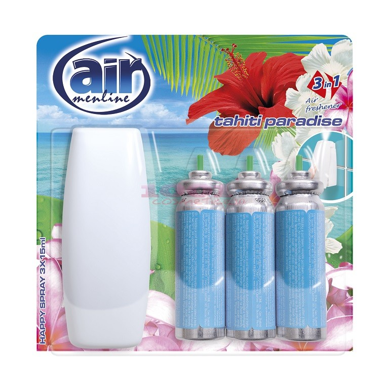 AIR MENLINE 3IN1 SPRAY APARAT + 3 BUCATI REZERVE TAHITI PARADISE SET