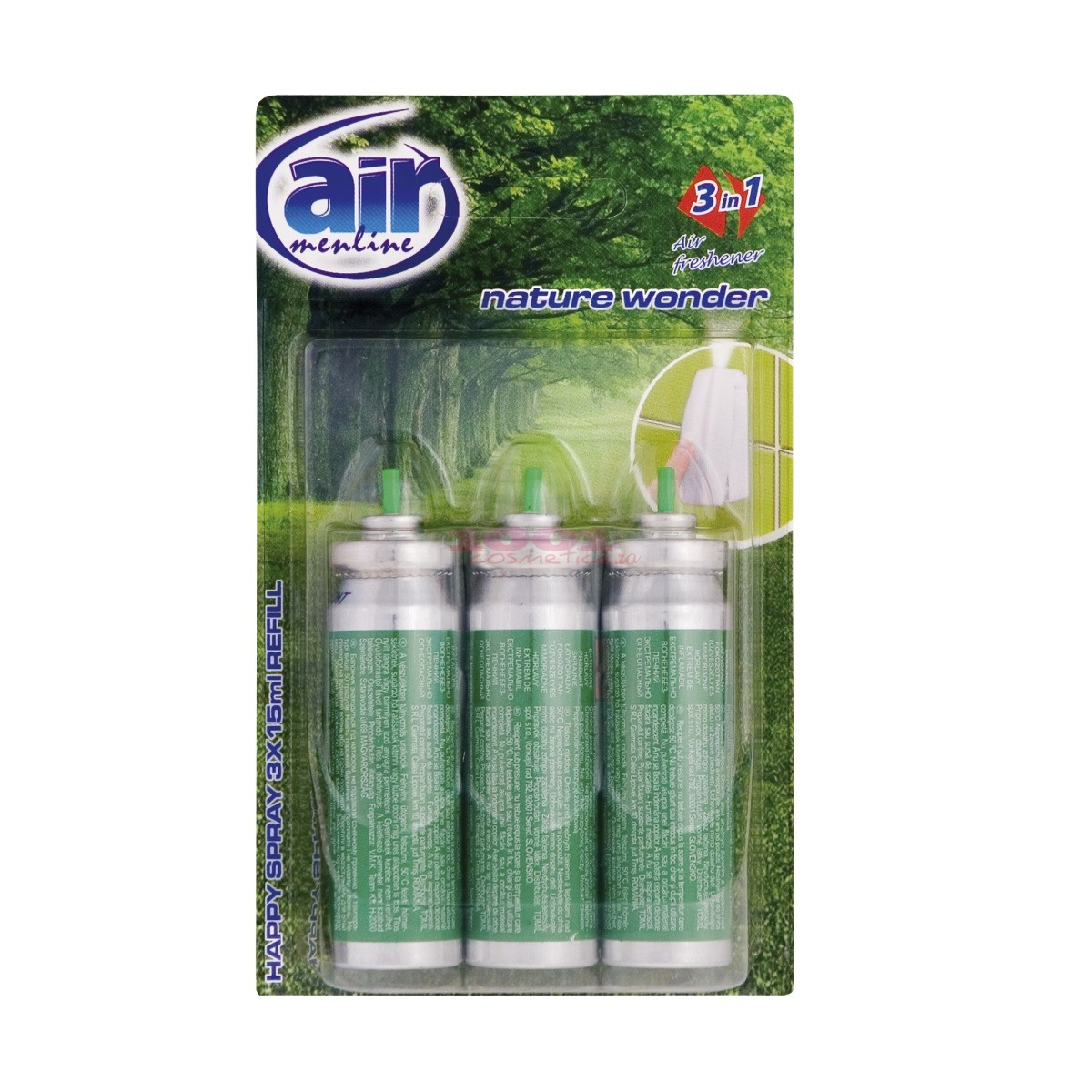 AIR MENLINE 3IN1 SPRAY REZERVA SET 3 BUCATI NATURE WONDER