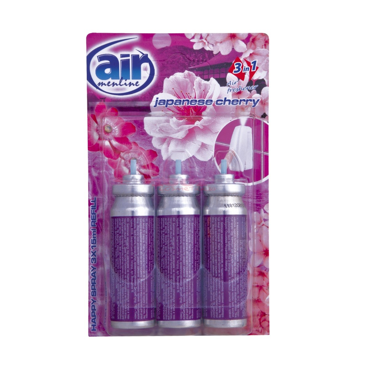 AIR MENLINE 3IN1 SPRAY REZERVA SET 3 BUCATI JAPANESSE CHERRY