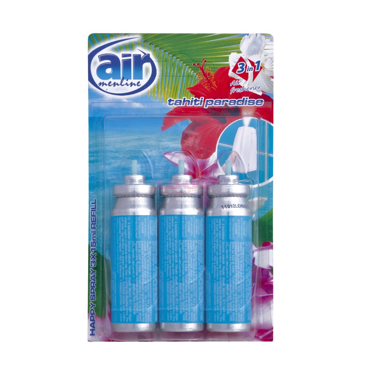 AIR MENLINE 3IN1 SPRAY REZERVA SET 3 BUCATI TAHITI PARADISE