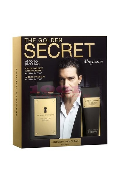 ANTONIO BANDERAS THE GOLDEN SECRET EDT 100 ML + AFTER SHAVE BALSAM 100 ML SET