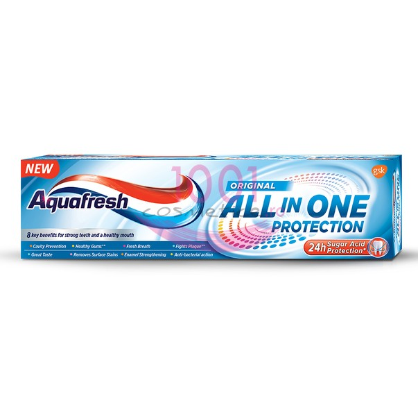 AQUAFRESH WHITENING ALL IN ONE PROTECTION PASTA DE DINTI