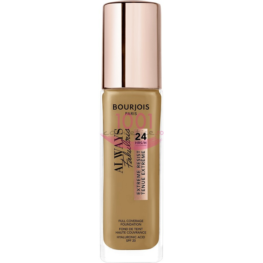 BOURJOIS ALWAYS FABULOUS 24H EXTREME RESIST FOND DE TEN CARAMEL 520