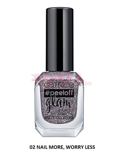 CATRICE PEELOFF GLAM EASY TO REMOVE EFFECT LAC DE UNGHII 02 NAIL MORE  WORRY LESS
