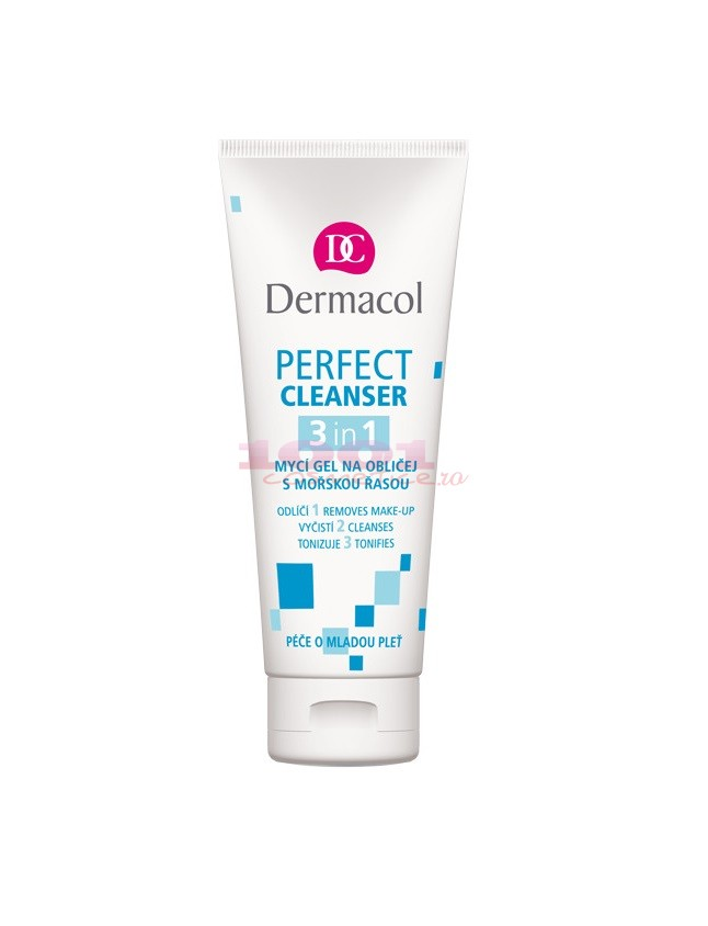 DERMACOL PERFECT CLEANSER 3 IN 1 GEL DE CURATARE CU ALGE MARINE