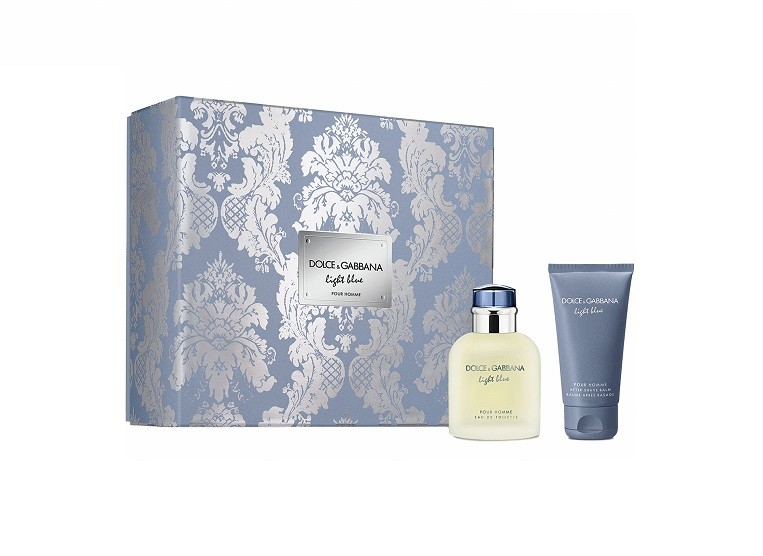DOLCE & GABBANA LIGHT BLUE POUR HOMME EDT 75 ML + AFTER SHAVE 50 ML SET
