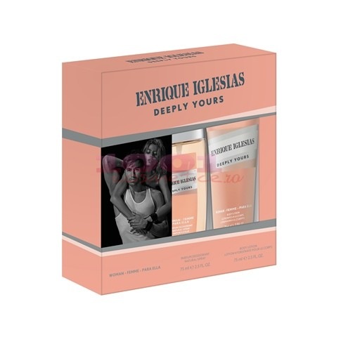 ENRIQUE IGLESIAS WOMAN DEEPLY YOURS DNS 75 ML + BODY LOTION 75 ML SET