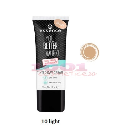 ESSENCE YOU BETTER WORK GYM PROOF TINTED DAY CREAM CREMA COLORATA LIGHT 10