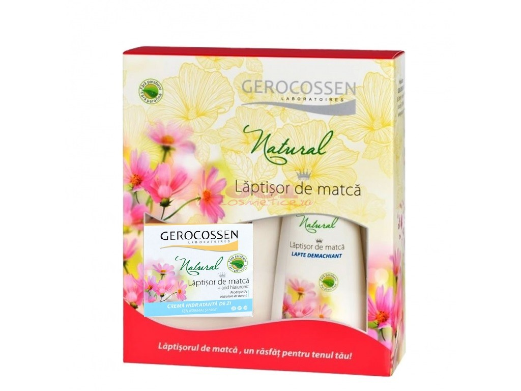 GEROCOSSEN NATURAL CREMA HIDRATANTA TEN NORMAL DE ZI 50 ML+ GEL DE CURATARE 200 ML SET