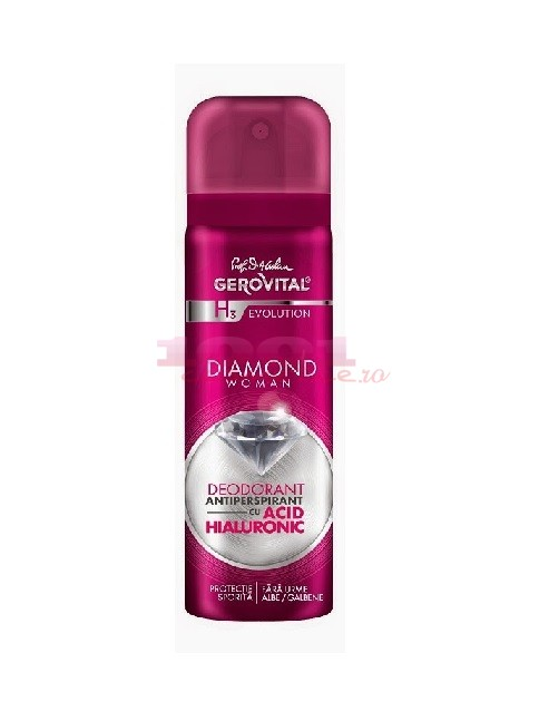 Gerovital H3 Diamond Woman Deodorant Antiperspirant Cu Acid Hialuronic