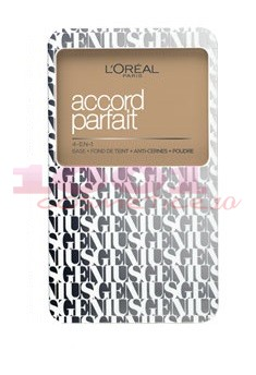 LOREAL ACCORD PARFAIT GENIUS FOND DE TEN COMPACT 4IN1 BEIGE 4.N