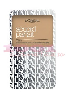 LOREAL ACCORD PARFAIT GENIUS FOND DE TEN COMPACT 4IN1 BEIGE DORE 3DW
