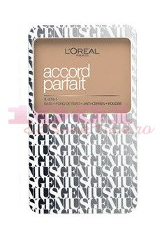 LOREAL ACCORD PARFAIT GENIUS FOND DE TEN COMPACT 4IN1 BEIGE ROSE 3R3C