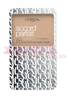 LOREAL ACCORD PARFAIT GENIUS FOND DE TEN COMPACT 4IN1 VANILLE ROSE 2R2C
