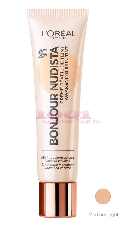 LOREAL BONJOUR NUDISTA BB CREAM MEDIUM / LIGHT