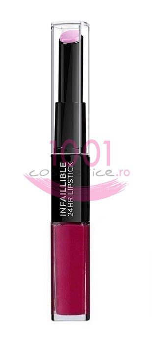 LOREAL INFAILLIBLE 2 STEP 24H RUJ ULTRAREZISTENT 214 RASPBERRY FOR LIFE