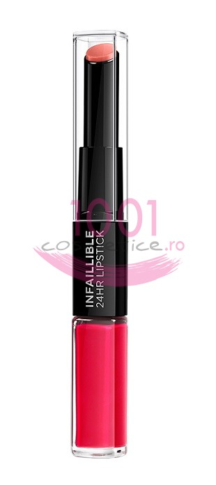 LOREAL INFAILLIBLE 2 STEP 24H RUJ ULTRAREZISTENT 701 CAPTIVATED BY CERISE
