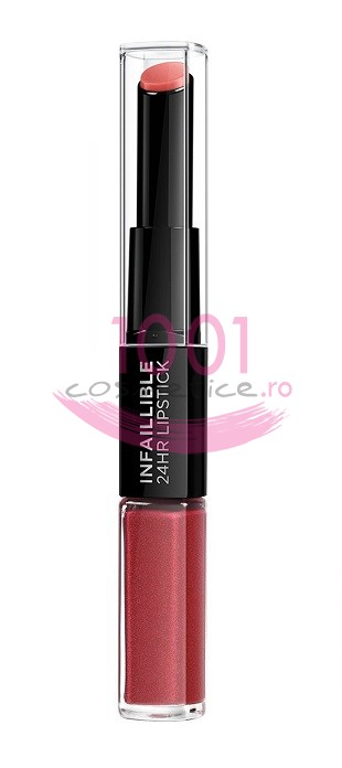 LOREAL INFAILLIBLE 2 STEP 24H RUJ ULTRAREZISTENT RELENTLESS ROUGE 507