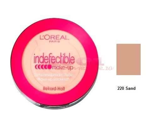 Loreal Infallible Compact Make Up Fond De Ten Pudra Sand 220