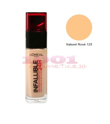 LOREAL INFALLIBLE FOND DE TEN NOU NATUREL ROSE 125