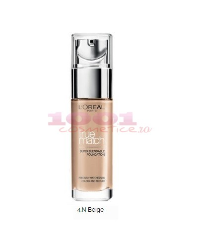 LOREAL TRUE MATCH SUPER-BLENDABLE FOND DE TEN BEIGE N4