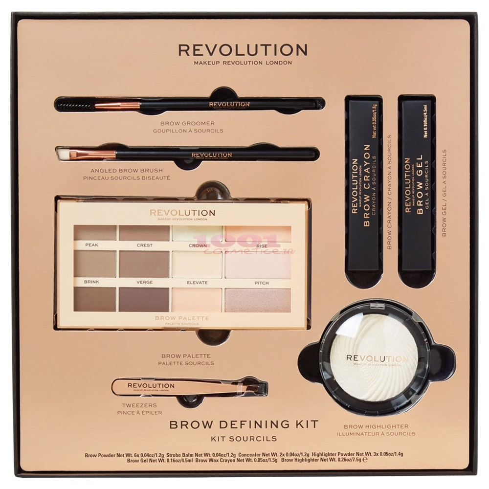 MAKEUP REVOLUTION BROW DEFINING KIT MACHIAJ SPRANCENE
