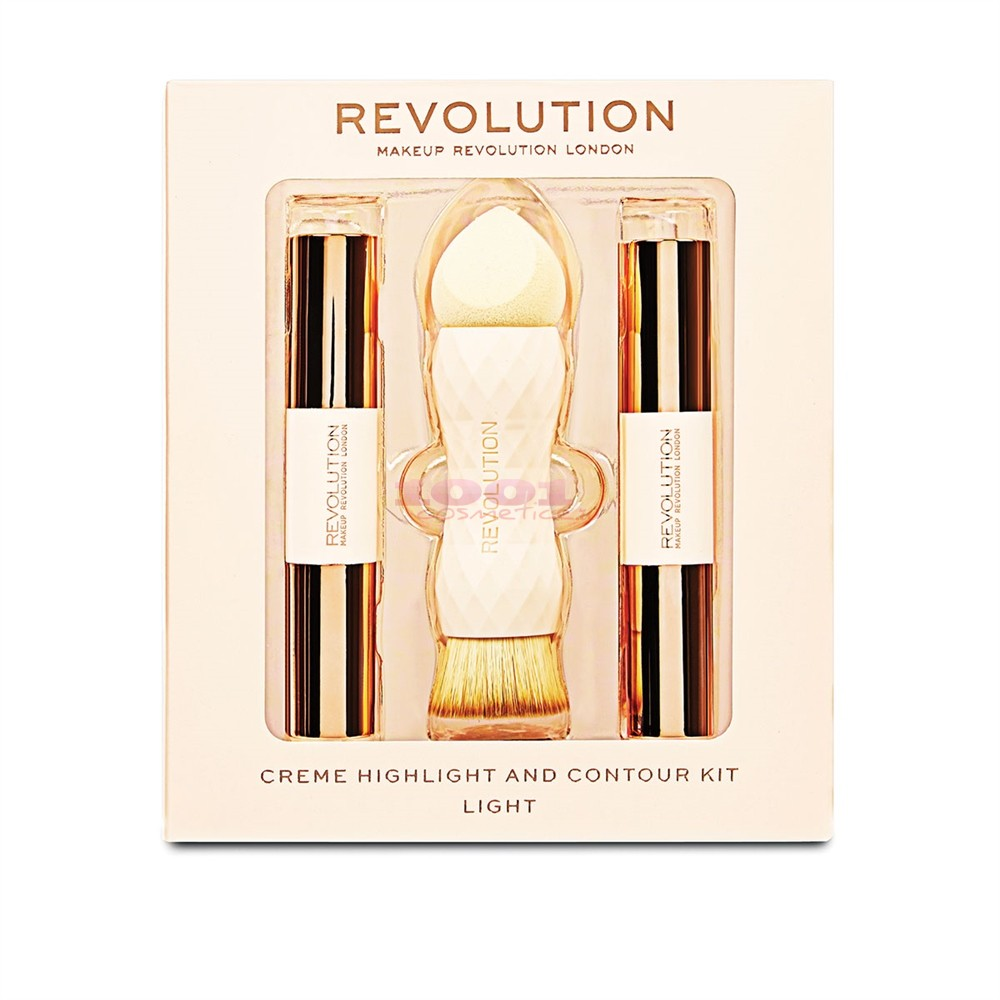 MAKEUP REVOLUTION CREME HIGHLITER AND CONTOUR KIT LIGHT