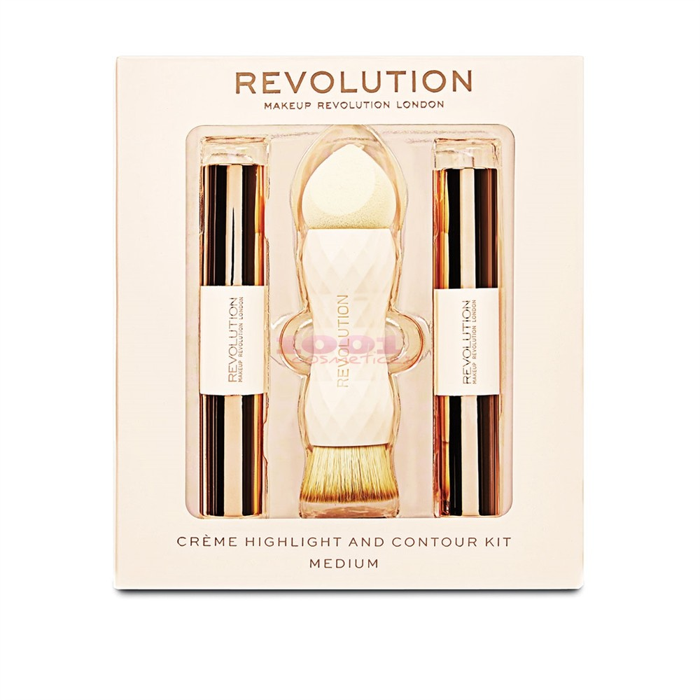 MAKEUP REVOLUTION CREME HIGHLITER AND CONTOUR KIT MEDIUM