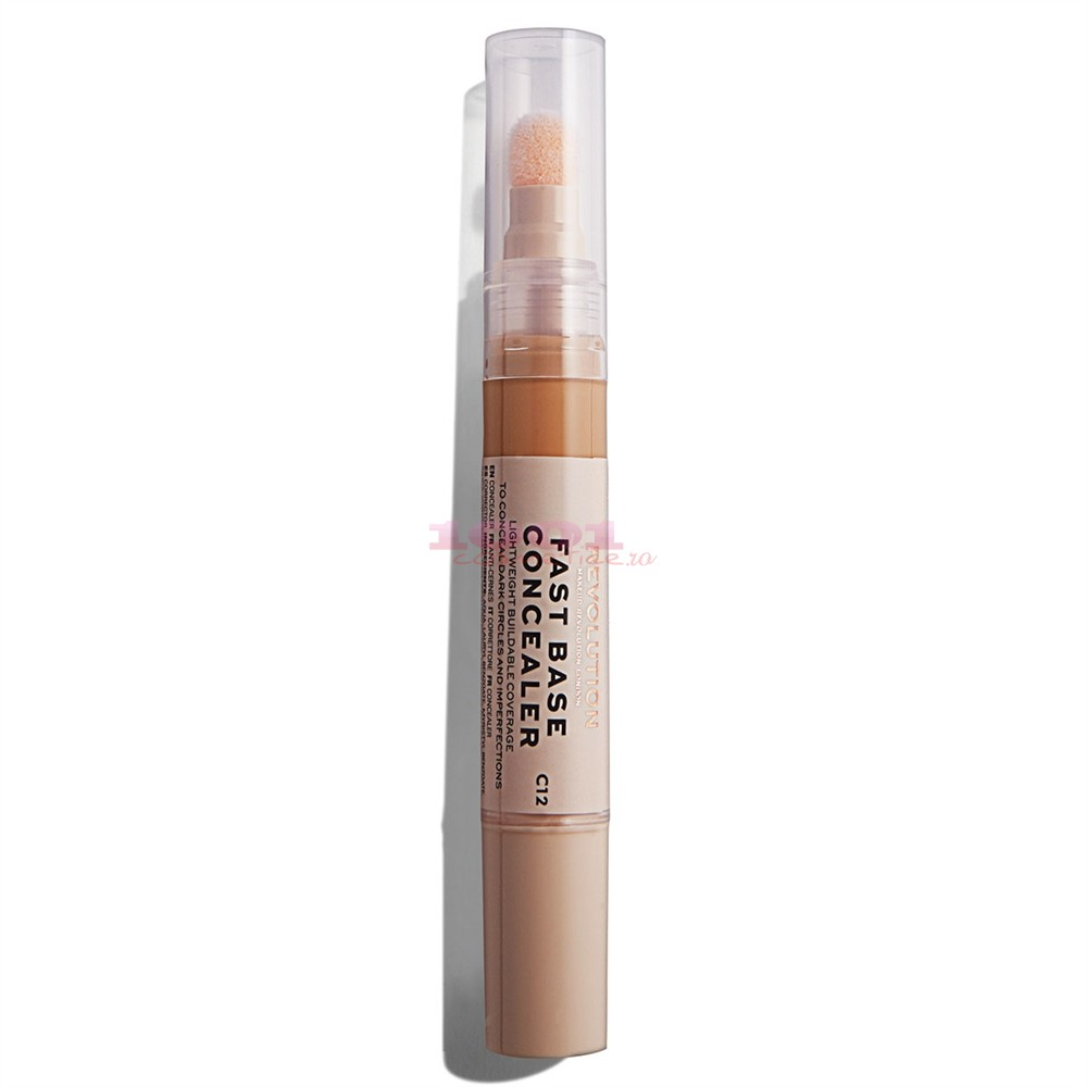 MAKEUP REVOLUTION FAST BASE CONCEALER BAZA CORECTOARE C12