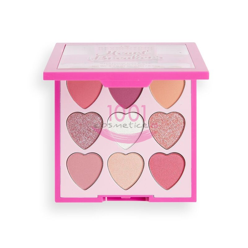 MAKEUP REVOLUTION I LOVE REVOLUTION PALETA MINI HEART BREAKERS 9 FARDURI