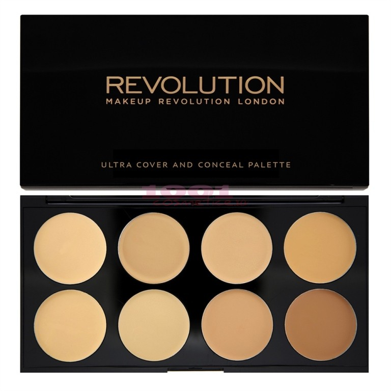 MAKEUP REVOLUTION LONDON ULTRA COVER AND CONCEAL PALETA CORECTOR LIGHT - MEDIUM