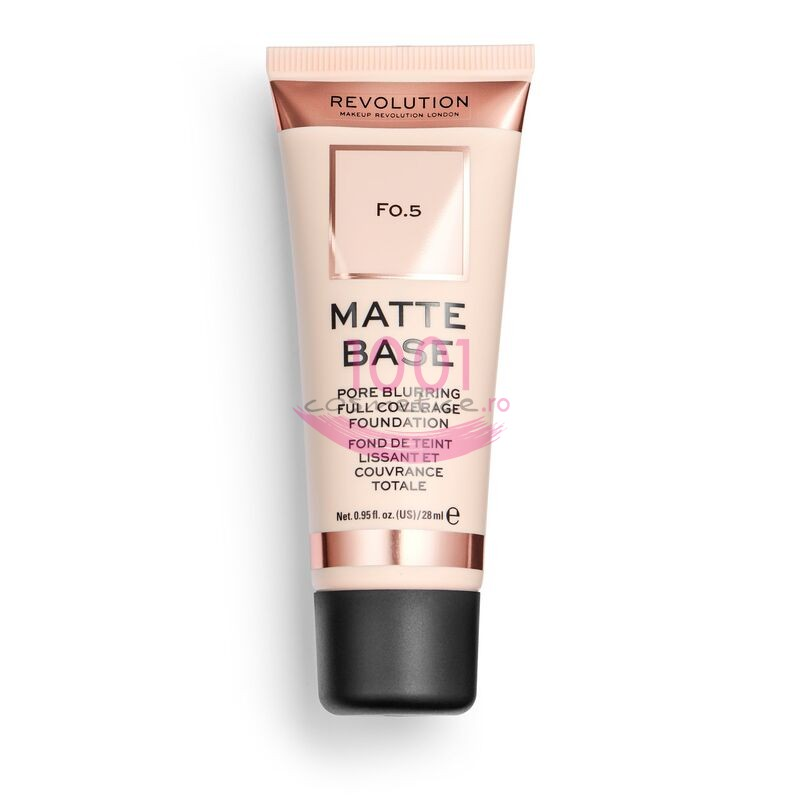 MAKEUP REVOLUTION MATTE BASE PORE BLURRING FULL COVERAGE FOND DE TEN 0.5