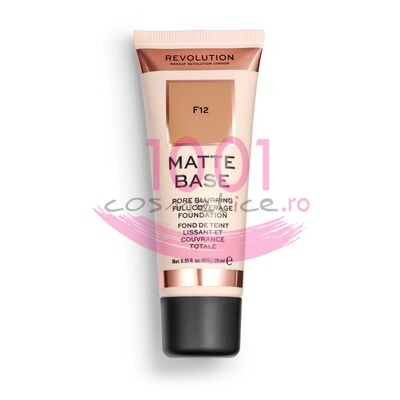 MAKEUP REVOLUTION MATTE BASE PORE BLURRING FULL COVERAGE FOND DE TEN F12