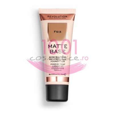 MAKEUP REVOLUTION MATTE BASE PORE BLURRING FULL COVERAGE FOND DE TEN F12.5