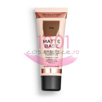 MAKEUP REVOLUTION MATTE BASE PORE BLURRING FULL COVERAGE FOND DE TEN F14