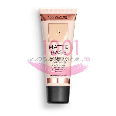 MAKEUP REVOLUTION MATTE BASE PORE BLURRING FULL COVERAGE FOND DE TEN F6