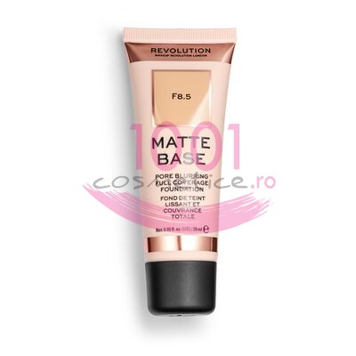 MAKEUP REVOLUTION MATTE BASE PORE BLURRING FULL COVERAGE FOND DE TEN F8.5