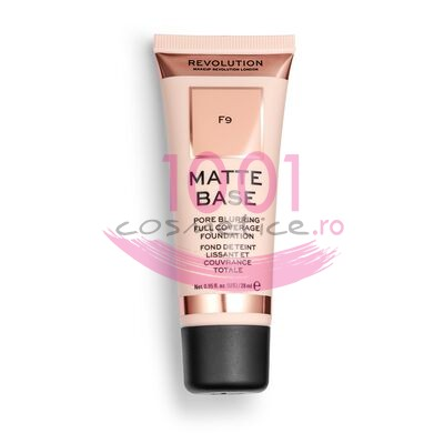MAKEUP REVOLUTION MATTE BASE PORE BLURRING FULL COVERAGE FOND DE TEN F9