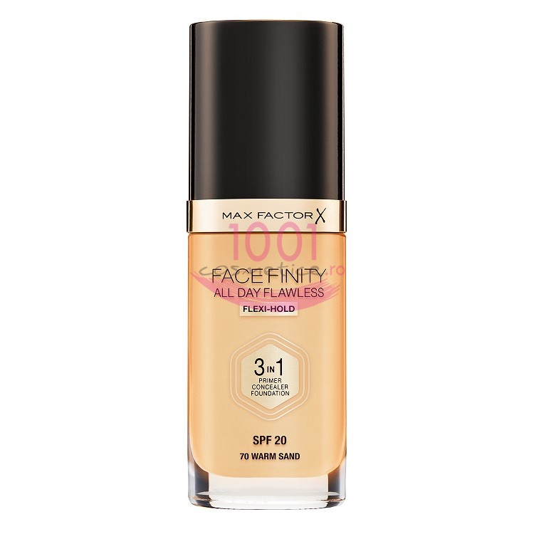 MAX FACTOR FACEFINITY ALL DAY FLAWLESS 3 IN 1 FOND DE TEN WARM SAND 70