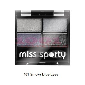 MISS SPORTY STUDIO COLOUR QUATTRO FARD DE PLEOAPE SMOKY BLUE EYES 401
