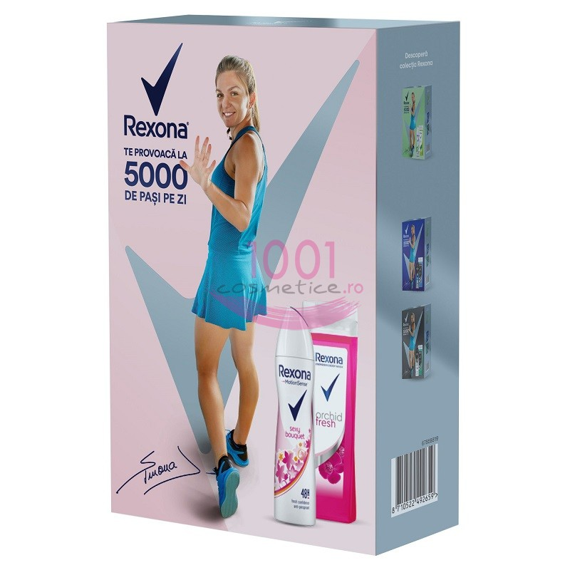 REXONA SEXY BOUQUET ANTI-PERSPIRANT DEO 150 ML + GEL DUS ORCHID FRESH 250 ML SET