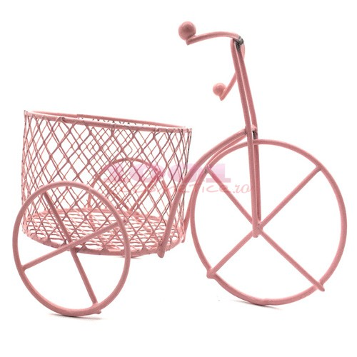 RIAL MAKEUP ACCESSORIES SUPORT PINK BICYCLE PENTRU BURETEI DE MAKEUP