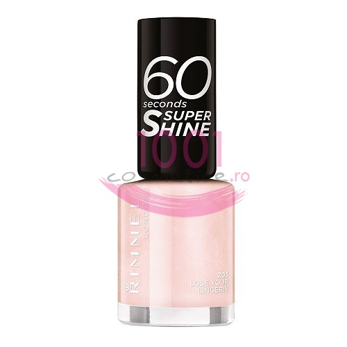 RIMMEL LONDON 60 SEC SUPER SHINE LAC DE UNGHII LOSE YOUR LINGERIE 203